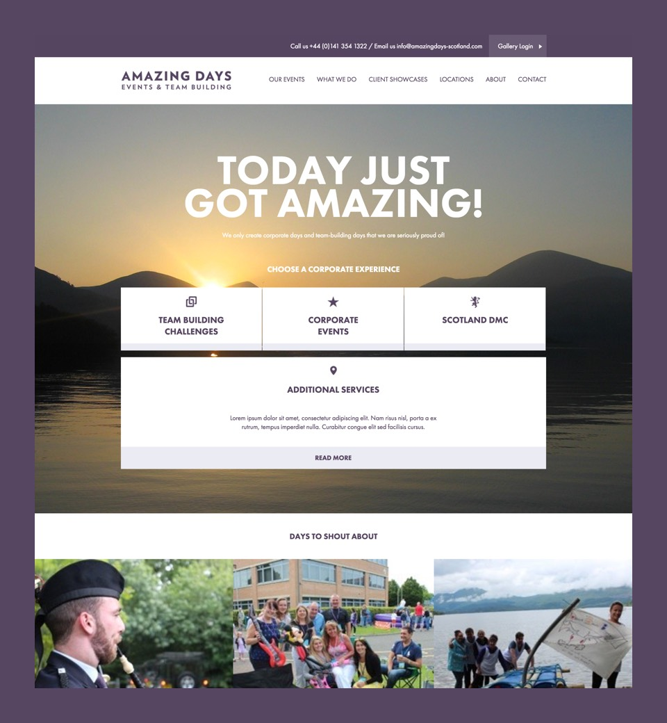 Amazing Days website preview