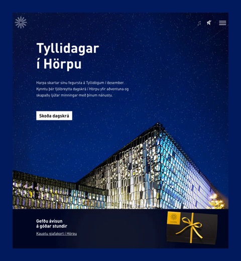 December Events in Harpa website preview