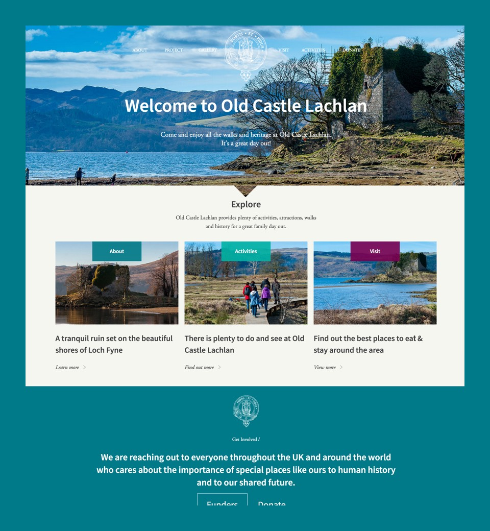 Old Castle Lachlan website preview