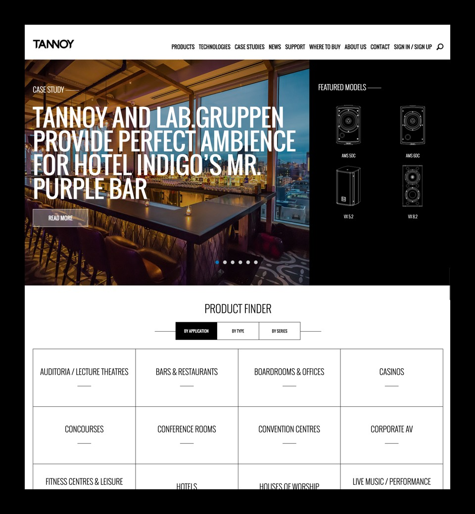 Tannoy Pro website preview